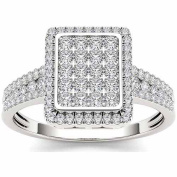 Imperial 1/2ct TW Diamond Cluster Engagement Ring in 10k White Gold