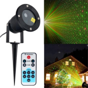 BLINKING-STAR Outdoor Christmas Spot Lights Twinkling Lights Remote Control Outdoor Red Green Projection Lamp Remote Stars LED Lawn Lamp Xmas Decor
