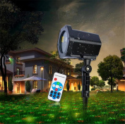 BLINKING-STAR Xmas Projection Lamp Decor Red-Green Dual-Light Dynamic Belt Remote Control Lawn Lamp Outdoor Garden Holiday Place Lantern Christmas Garden Court Landscape Lamp