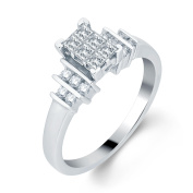 10k White Gold 1/2ct TDW Princess-cut Diamond Engagement Ring