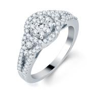 14k White Gold 3/4ct TDW Diamond Unity Bridal Ring