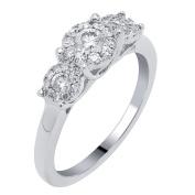 14k White Gold 1/2ct TDW Diamond Unity Ring