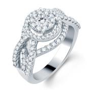 14k White Gold 1 3/4ct TDW Fashion Bridal Ring