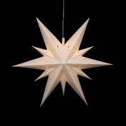 Falke Steiner Advent Star Plastic Pill Box, 11 TIPS WITH LED LIGHTS AND ADAPTER suitable for indoor and outdoor use Choose Your Colour using Drop Down Menu White