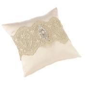 Lillian Rose Gold Lace Ring Bearer Pillow