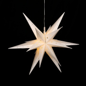 Falke Steiner Advent Star Plastic Pill Box, 18 TIPS WITH LED LIGHTS AND ADAPTER suitable for indoor and outdoor use Choose Your Colour using Drop Down Menu. White