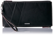 Lodis womens Mill Valley Under Lock & Key Kai Double Zip Pouch With Wristlet Blk