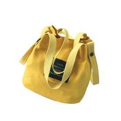 Women Mini Handbags Girls' Canvas Single Shoulder Bags Cute Bucket Handbag