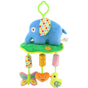 Qiyun Wind Chimes Crib Stroller Rattle Decoration Toddler Infant Intellectual Hanging Animal Bell Toy Christmas Giftstyle:Elephant