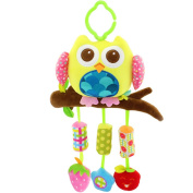 Qiyun Wind Chimes Crib Stroller Rattle Decoration Toddler Infant Intellectual Hanging Animal Bell Toy Christmas Giftstyle:Yellow owl