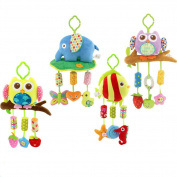 Qiyun Wind Chimes Crib Stroller Rattle Decoration Toddler Infant Intellectual Hanging Animal Bell Toy Christmas Gift