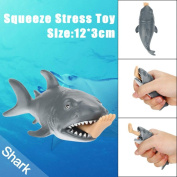 Joke Squishy Toy, Fat.chot Soft Man-eating Shark Slow Rising Squeeze Toy New Year Christmas Party Decoration Relieves Stress Relax Funny Leg Decompression Toys Gift for Kids Adults
