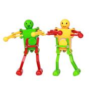 Domybest Funny Clockwork Wind Up Robot 2pcs Creative Dancing Robot Toys Christmas Gift Random Colour