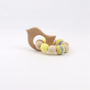 baby tete Wooden Teether BPA Free Baby Teething Bracelets Sensory Chewing Toy High Quality Activity Gym Toy