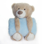 Baby Boys Girls Unisex Large Soft Plush Toy Teddy and Comfort Blanket Super Soft Fleece 100% Polyester Cute Themes and Colours Elephant, Bear, Rabbit/Bunny or a Fluffy Sheep