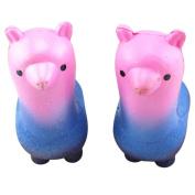 Hunpta Squishy Rainbow Alpaca Phone Straps Slow Rising Bun Charms Gifts Toys