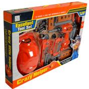 Kids Toy Tools Construction Plastic Creative DIY Builders Pretend Play Set Hard Hat Drill