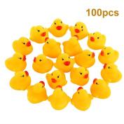 Duck Bath Toy, Fascigirl Bathtub Toy Mini Floating Squeaky Cute Baby Shower Toy