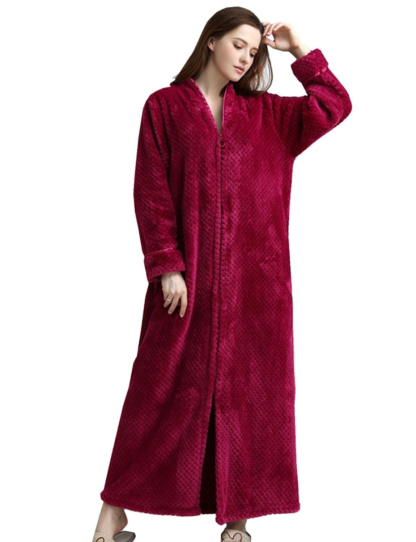 afbfebdd44 BELLOO Ladies Soft Fleece Dressing Gown Full Length Fluffy Bathrobe Zip Up  by BELLOO - Shop Online for Homeware in New Zealand
