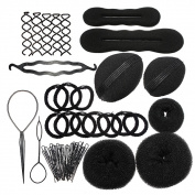 Styling Base Hair Accessory Maker Pads Hairpins Clip Insert Tool Hair Bun Set for Women/Girl