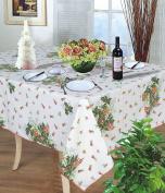 Holly Christmas Tablecloth 150cm Round