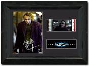Heath Ledger 35 mm Film Cell New Stunning display Signed Joker The Dark Knight Batman