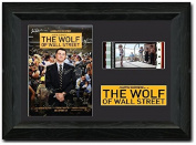 The Wolf of Wall Street 35 mm Film Cell New Stunning display SIGNED Margot Robbie & Leonardo Dicaprio