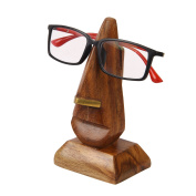 Christmas Gifts Wooden Hand Carved Nose Shaped Eyeglass Spectacle Holder Stand Display Stand Home Decor