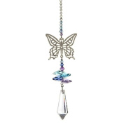 Crystal Fantasy Hanging Suncatcher/Rainbow Maker + 38mm Icicle - BUTTERFLY