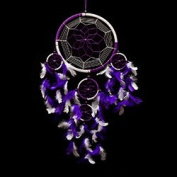 Pink Pineapple // Dream Catcher Handmade Traditional Purple and White 22 Centimetre Diameter 60 Centimetres Long