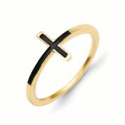 14k Antiqued Sideways Cross Ring