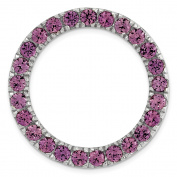 Sterling Silver Stackable Expressions Medium Rhodolite Garnet Chain Slide Size-