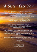 Personalised A Sister Like You Poem Birthday Christmas Sister Anniversary Husband Wife Boyfriend Girlfriend Present Gift Perfect For Framing