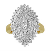 Chetan Collection 1.00 Carat T.W. Diamond 10kt Yellow Gold Designer Cluster Ring