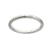 2mm Half Round Damascus Steel Ring