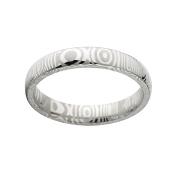 4mm Half Round Damascus Steel Ring