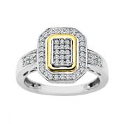 Duet 1/3 ct Diamond Ring in Sterling Silver and 14kt Gold