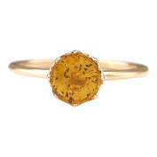1.80 CTW Natural Yellow Sapphire Ring In 14k Yellow Gold