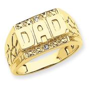 14k AA Diamond men's ring