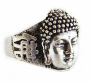 Silver Ring with Buddha Head-size 10