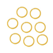 20 Gold Plated Flat 2.5cm Split Key Ring Steel Alloy