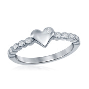 Baby And Girls 925 Sterling Silver Cubic Zirconia Love Heart Cute Ring Size 0.9m 1.2m 5