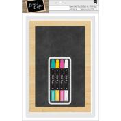 DIY Shop 3 Chalkboard W/4 Chalk Markers 20cm x 30cm