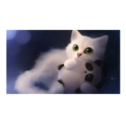 Broadroot White Cat 5D Diamond DIY Painting Craft Kit Home Decor