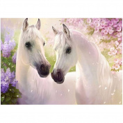 Broadroot Two Horse 5D Diamond DIY Painting Craft Home Decor