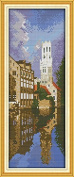 Chreey World-renowned Architecture Series - Bruges Cross Stitch Fashion Crafts Home Art Decoration [16x38cm]