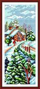 Chreey Four Seasons Scenery Series (2) - Winter Cross Stitch Fashion Crafts Home Art Decoration [15x34cm]