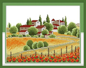 Chreey Country View Series - Cross Stitch Fashion Crafts Home Art Decoration [33x27cm]