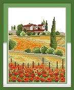 Chreey Country View Series - Cross Stitch Fashion Crafts Home Art Decoration [20x27cm]