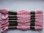 Pack of 6 Trebla Embroidery Thread / Skeins - 8m - Candy Pink - Col. 115